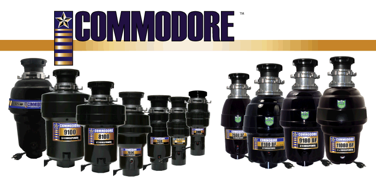 Commodore Food Waste Disposers
